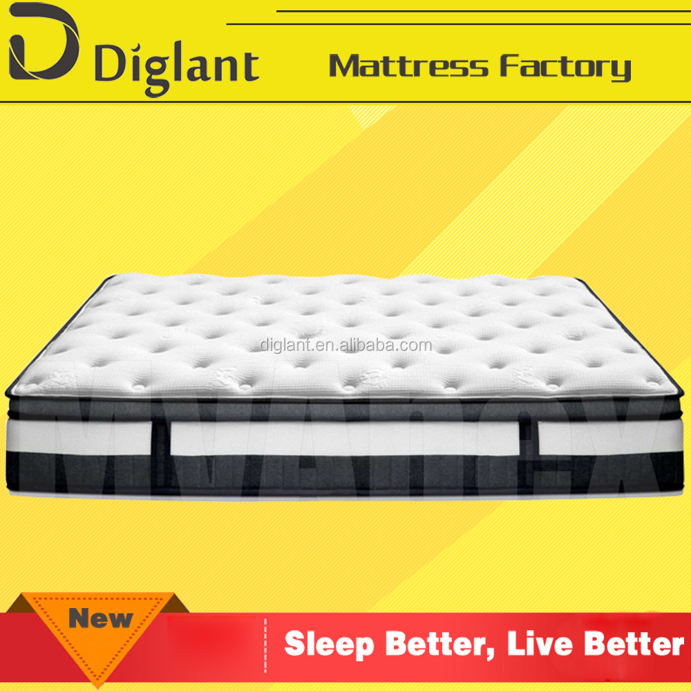 wholesale king size bedroom euro top bamboo pocket spring mattress manufacturer from China