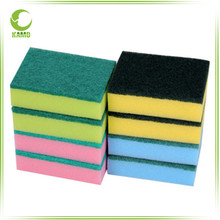 kitchen cleaning products high density sponge with green scouring pads