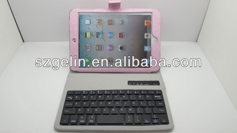 Magnetic detachable bluetooth keyboard case cover for ipad mini