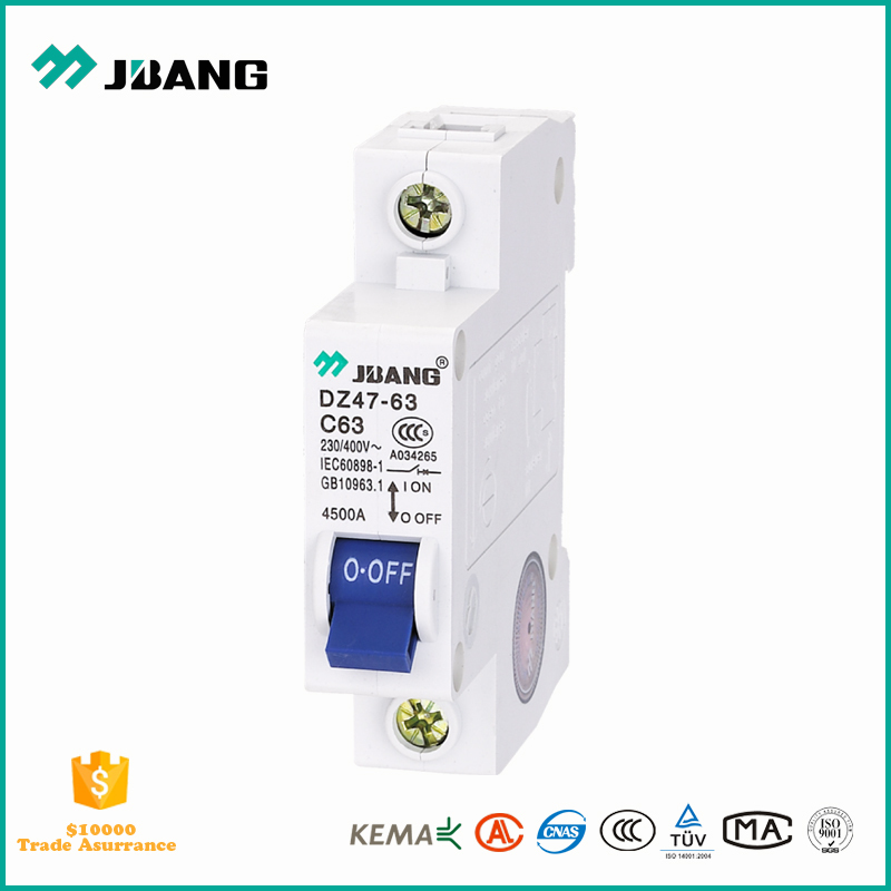 miniature circuit breaker price for MCB rating 4.5KA from 6 amp to 32 amp 1P