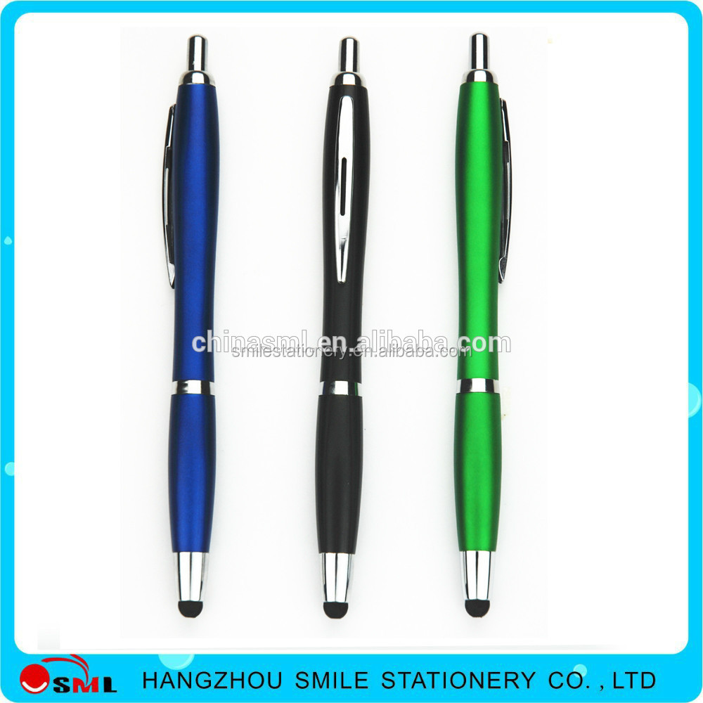 Plastic Ballpoint Pen with Soft touch Stylus Tip