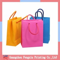 Retail Colorful Fashion Wholesale Luxury Paper Shopping Bag Logo Printed