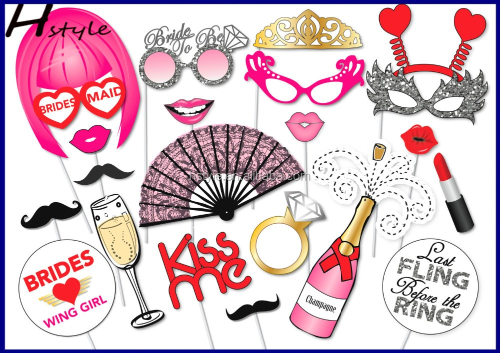 Hot New Products Handmade Bachelorette Party Photo Booth Props Set Girls Night out Bridal Shower PF0183