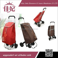 600D JIAFEI New Design trailer trolley Printing shopping trolley with wheels