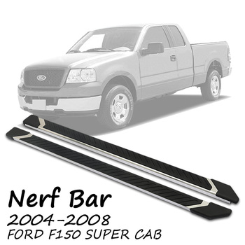 FIT 04-08 F150 SUPER CAB OE SIDE STEP NERF BAR RUNNING BOARD STAINLESS STEEL NF 4.5 ""