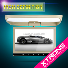 "Xtrons CR104 Cream 10.1""car flip down dvd player with HDMI Port AUX in DVD USB SD"