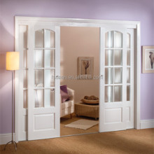 Euro style top hanging solid wood sliding doors for bathroom