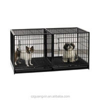 New Black Metal Steel Heavy Duty Tray Small Dogs Divider Panel Dog Crate Kennel