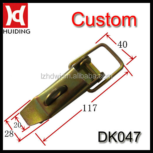 Steel Zinc plating-coloring spring hook draw bolt latch / toggle clamp / DK047