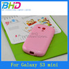 Cute Smooth Candy Solid Color TPU Gel Case For Samsung Galaxy S3 mini i8190