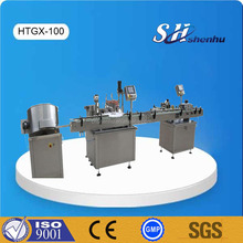 10ml -50ml automatic bottle filling capping labeling machine product line for spray