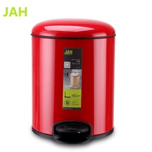 12L Red Pedal Aluminum Fancy Garbage Cans