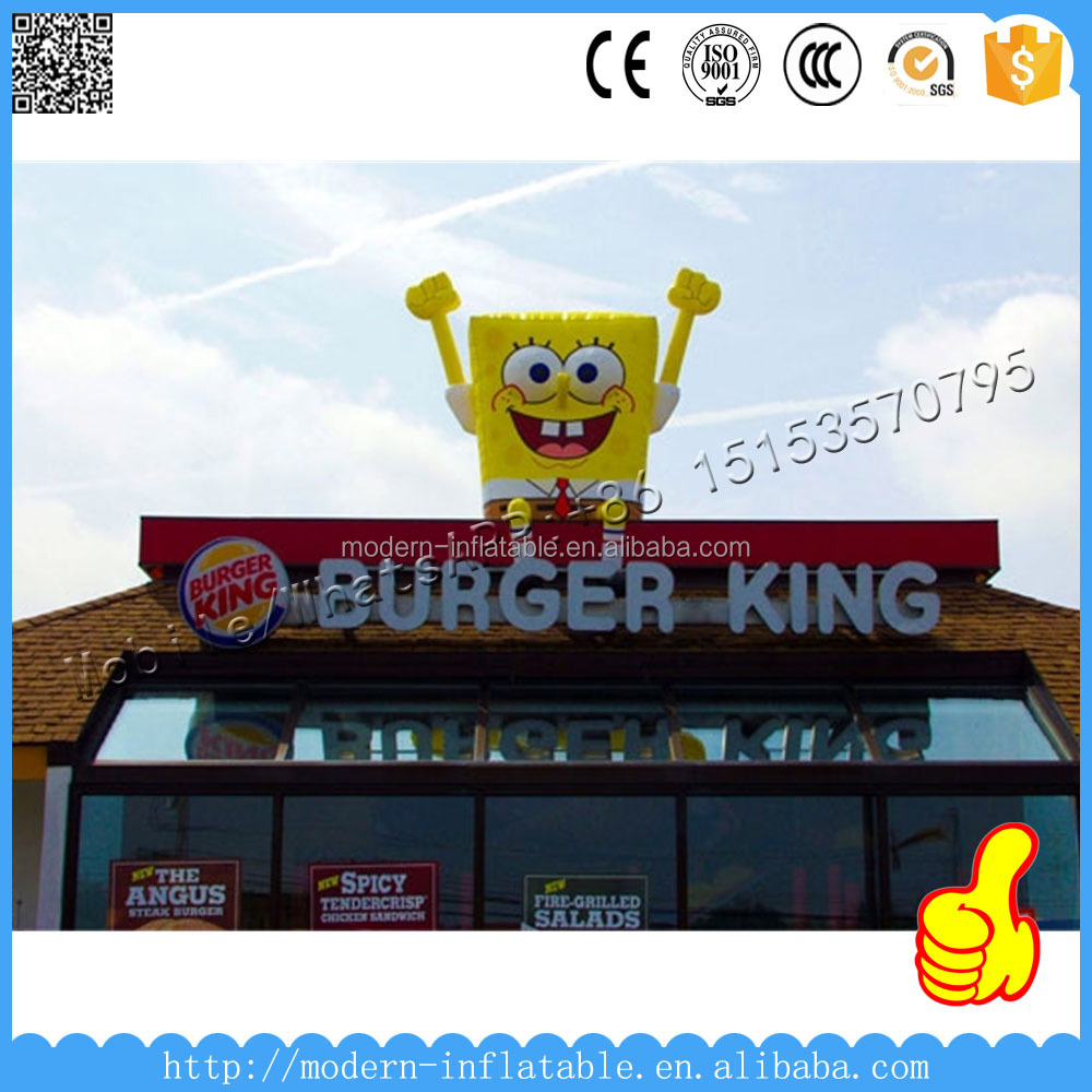 Giant Rooftop Inflatable SpongeBob SquarePants