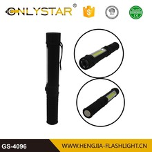 Mini pen shape super bright flashlight torch cob+1 led portable work light for car repair lamp