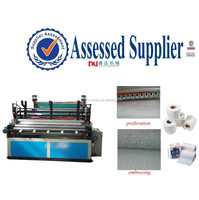 Automatic Toilet Paper and Kitchen Towel Rolls Embossing Printing Making Machine