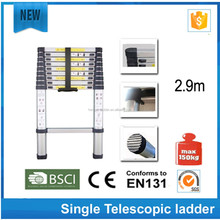 Aluminium single straight folding ladder