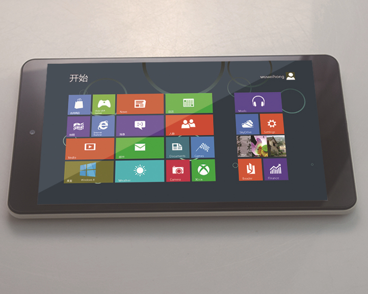New arrival! 32 GB quad core 8 inch intel win8 tablet pc made in China