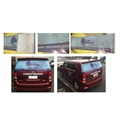 Custom size and design removable rear window vinyl graphics