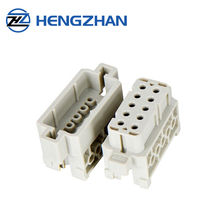 HZSD Male Female Heavy Duty 160V 16 Amp 17 Pin Cable Connector