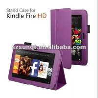 Fashionable PU Leather Case For Kindle Fire HD Tablet PC With Stand