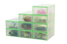 colorful plastic clear shoe box