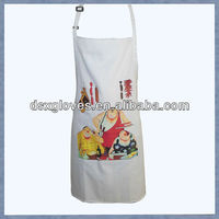 Hot sale wholesale printed women cooking aprons