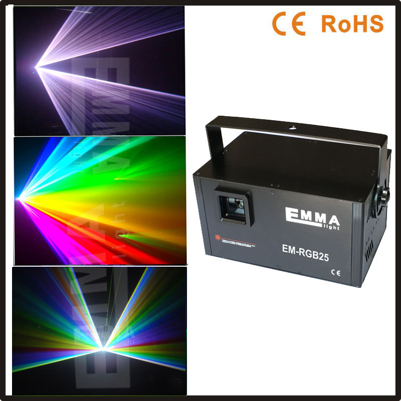New All diodes with dust free rgb full color animation ilda dmx analogue laser 3w rgb