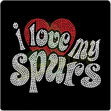 I love My Spurs Rhinestone Transfer For Dresses In Orlando