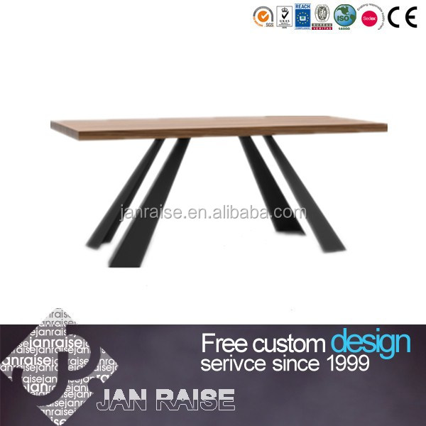 Outdoor or indoor metal base dining table and chair