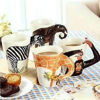 wholesale high quality ceramic mugs,animal shape ceramic cup,fancy coffee cup