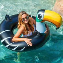New custom swimming pool floats water play equipment inflatable beach toy inflatable toucan swim ring float