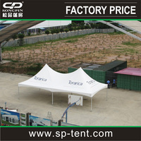 Premium 6x12m aluminum frame event tension tent canopy with logo printing
