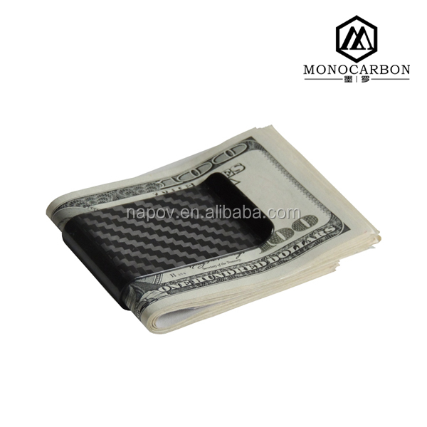Business Card Use and Carbon Fiber Material Business Card Holder Money Clip