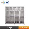 KA-505-S/M/L Powder Coated Observatory Boarding Kennel Daycare Cage Professional Modular Dog Cages with Solid Walls
