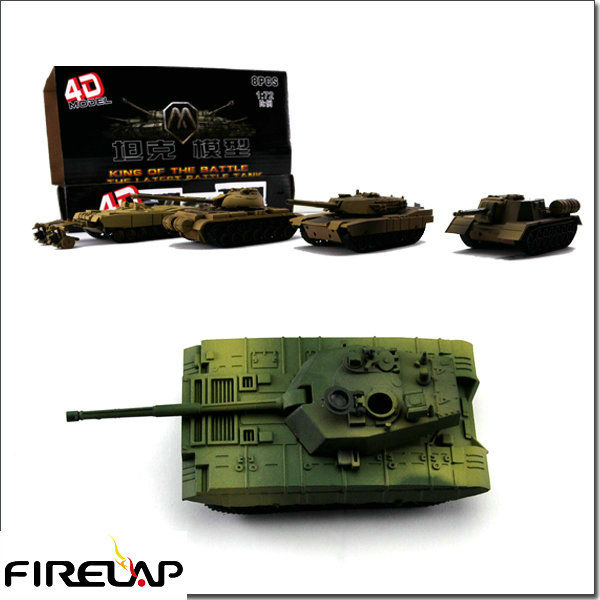 HOT! 2013ABS Plastic 4D Model Tank DIY Assembly Kit And hot Children Toys
