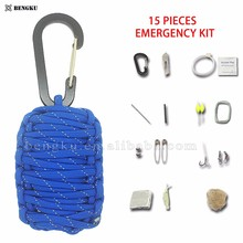 hiking and camping emergency disaster survival kit outdoor tools set