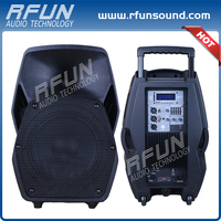 Satisfying service 2 way active speakers 180 WRMS box 12 inch portable trolley speaker with wheels