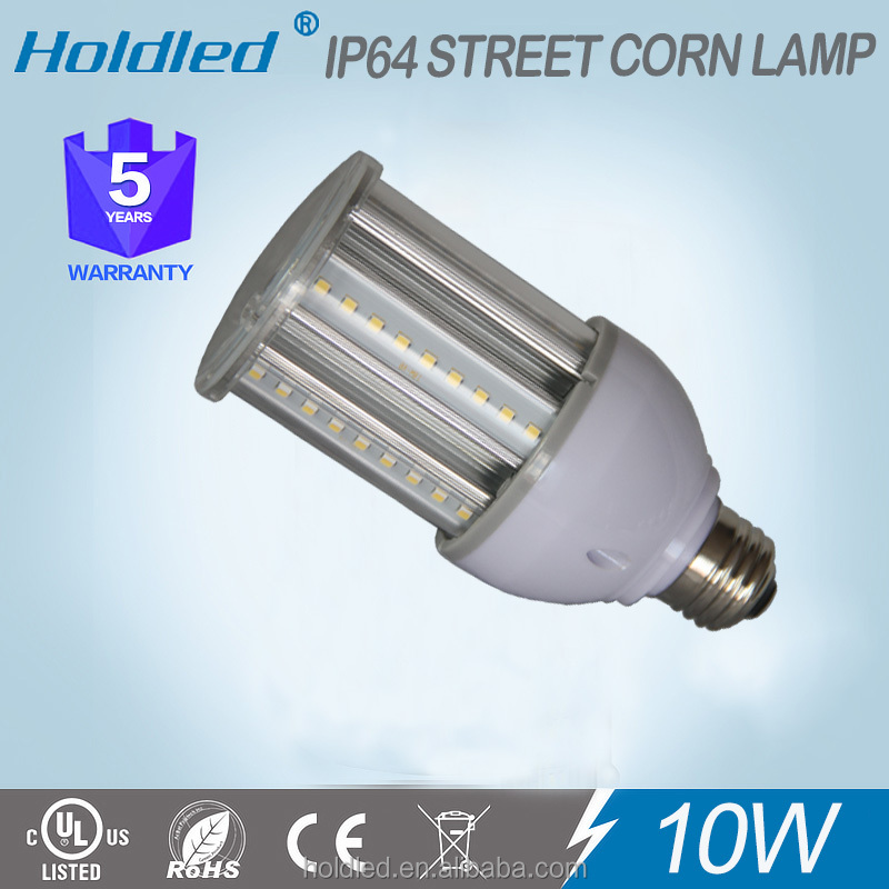 Hot sale silver ac277v 10w led corn light bulb for Post Top light