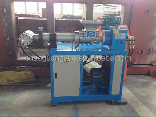 Higher efficiency XJG-75 cold feeding silicone tube extruder / silicone rubber pipe extruding machine