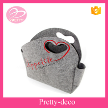 High quality customize fabric wool wholesale felt bag