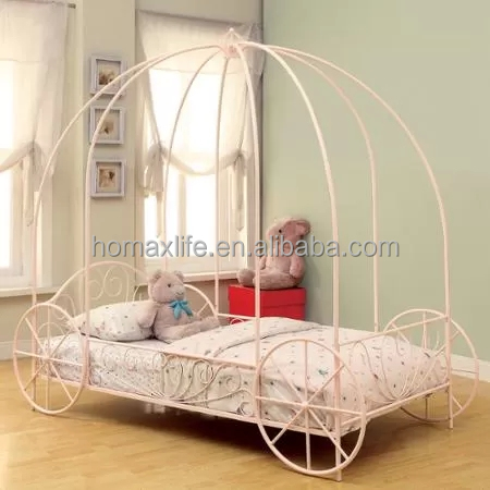 Carriage single Metal Canopy Bed
