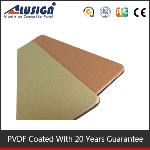Hign quality roof and house eave PVDF coated ACP exterior wall aluminum plastic composite panel