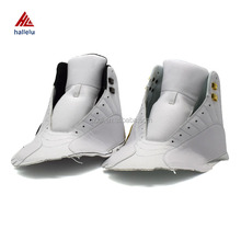 Full PU Winter Breathable Warm High White Sport Shoe Uppers Lace Up Men Golden Silver Metal Accessory White Athletic Shoes Upper