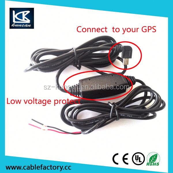 micro usb power converter for car DVR power supply