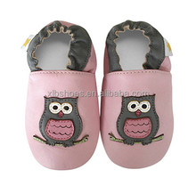 OEM welcome owl animal patterns leather infant girls shoes baby girls leather shoes