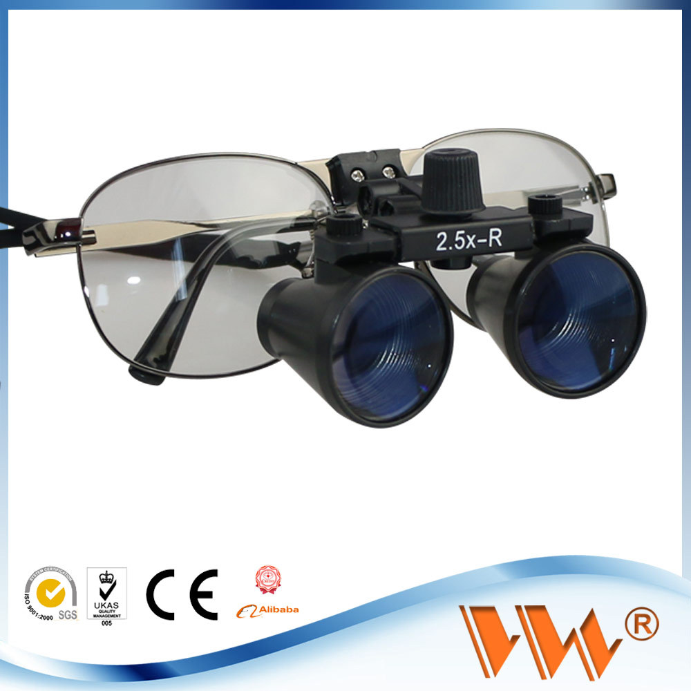 with led head light 6x magnifying glasses dental loupes