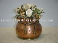 Ball Planter With Brass Rope