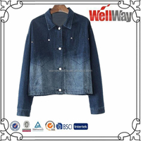 Ladies Autumn Denim Shirt 2015 New Women Long Sleeve Jeans Shirt denim shirts Wholesale Made In China