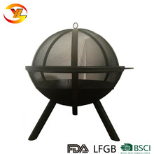 Outdoor Ball shaped wood burning globe steel sphere Fire Pit