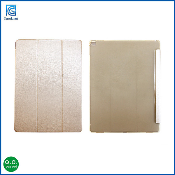 Three fold Coloful Folding stand leather smart cover case For iPad mini 3